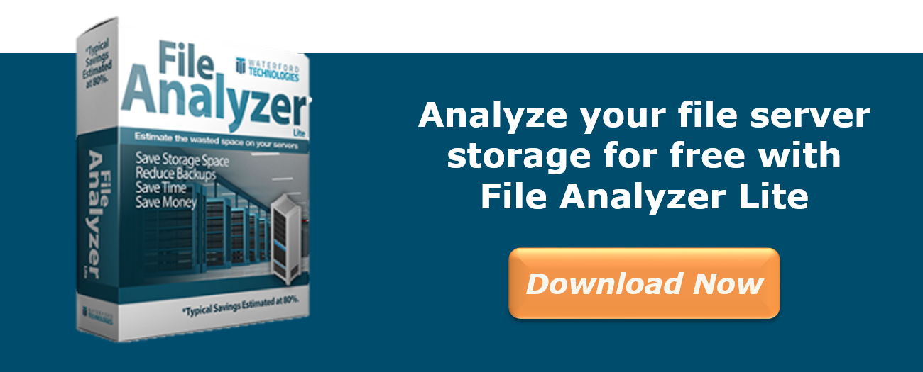 File Analyzer Trial - Reducing Backup Times