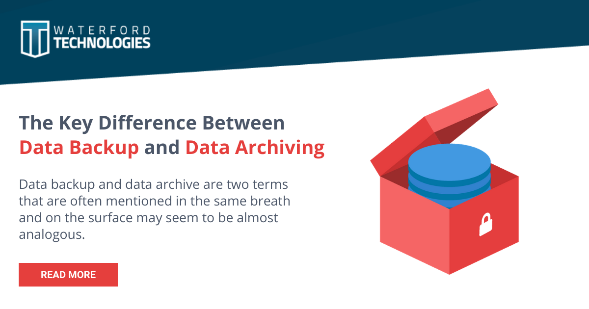 The Key Difference Between Data Backup and Data Archiving