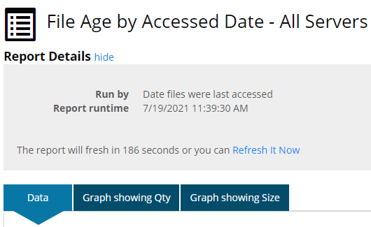 File age by accessed date- All Servers