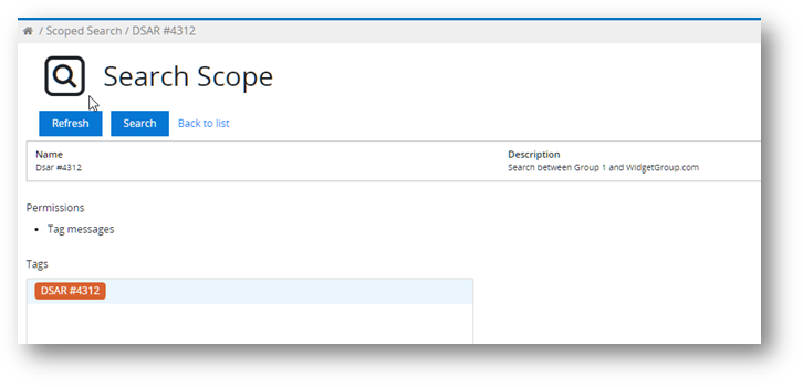 How to do a scoped search in MailMeter- Naming the scope